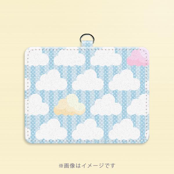 パスケース*ズレぱんだちゃんのいないイチゴ雲の風景5PCpa011