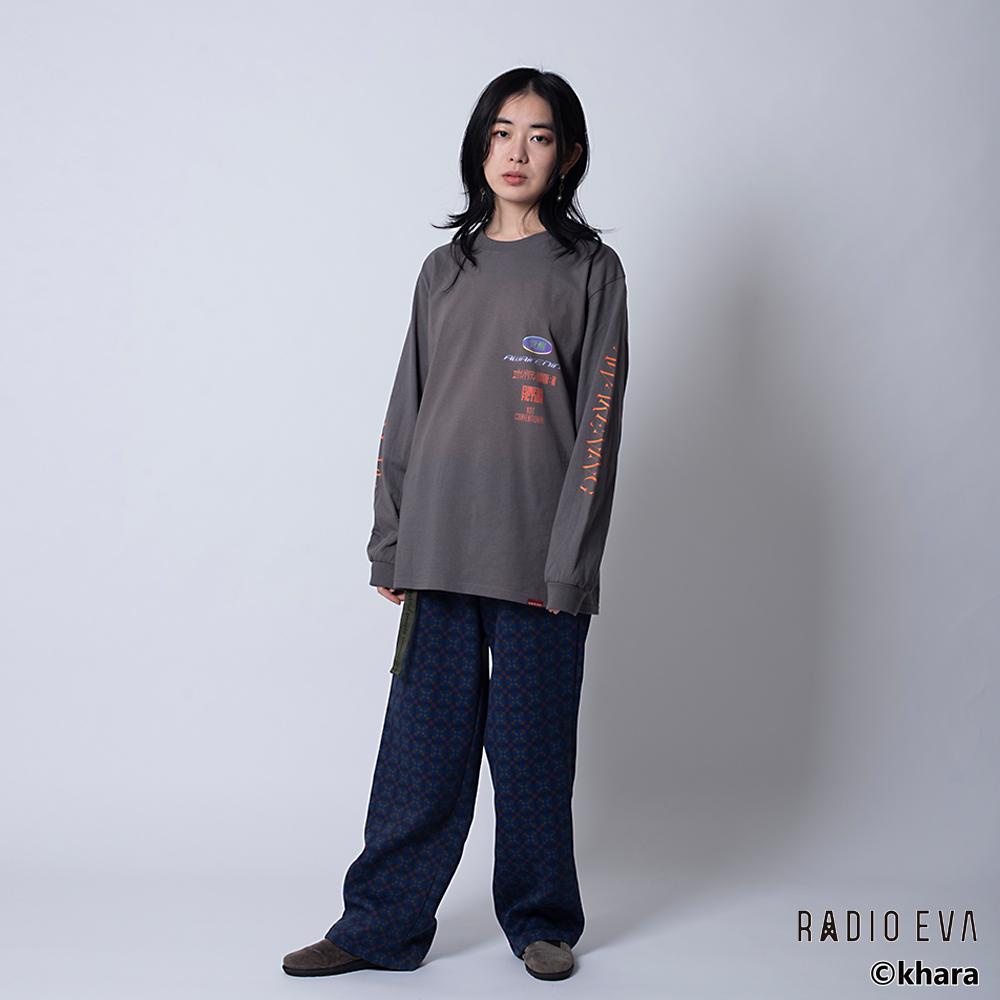 Unit-01 AWAKENING L/S Tee ( CHACOAL )   /  RADIO EVA