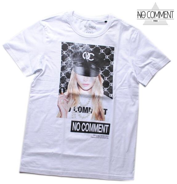 NO COMMENT PARIS ノーコメント パリ Tシャツ 半袖 クルーネック Tシャツ メンズ 正規販売店 LTN216 ホワイト