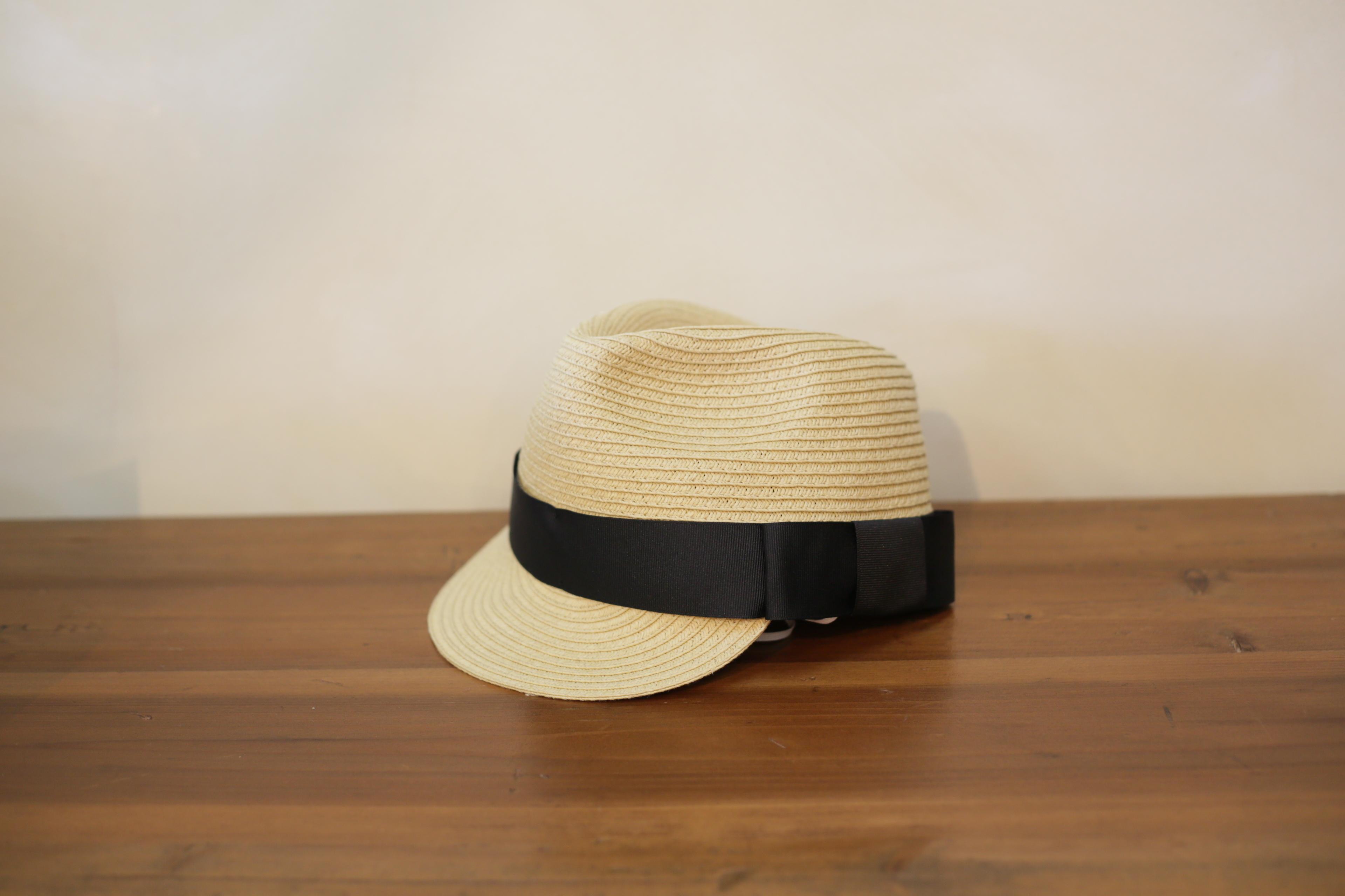 【再入荷】 chocolatesoup(チョコレートスープ)PAPER BRAID JOCKY HAT / black / S・M