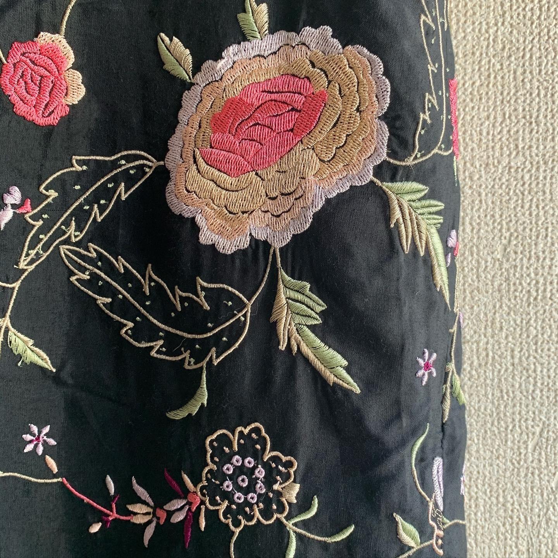 【SALE】vintage fringe embroidery skirt