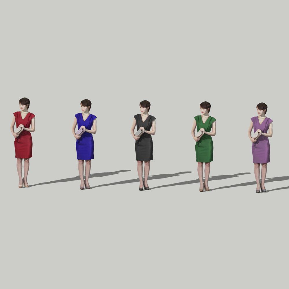 SketchUp素材 3D人物モデル ( Posed ) 023_Haru - 画像2
