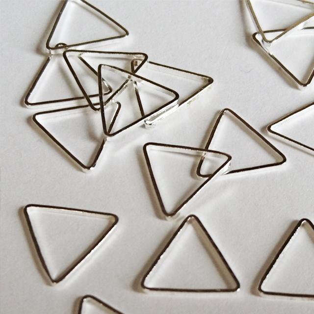 幾何学フレーム・正三角形(2個入り) [H02-025]