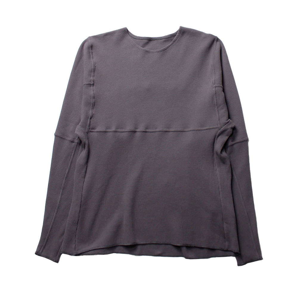 BRYAN JIMENEZ Thermal Long Sleeve Tee Gray