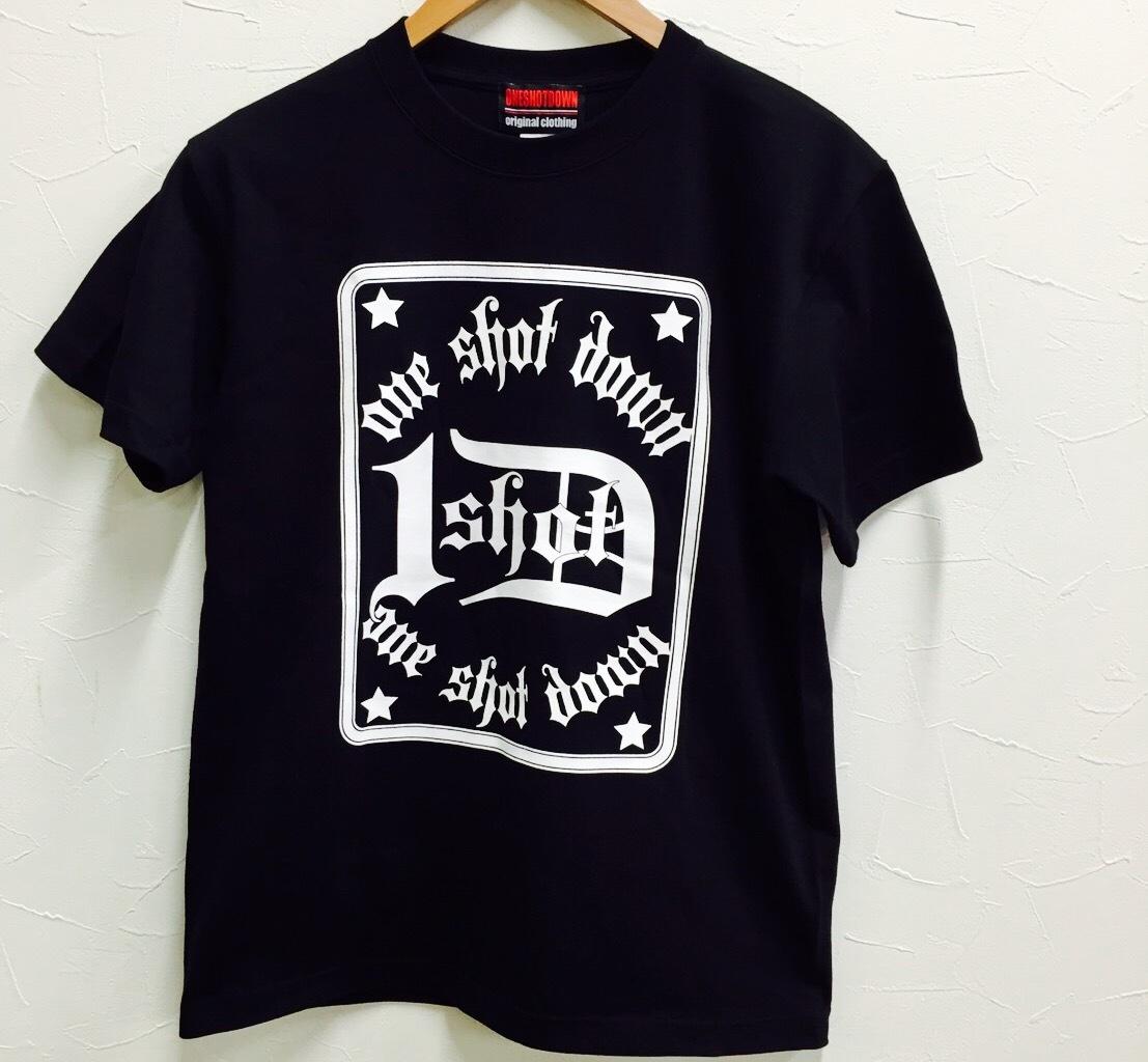 ONESHOTDOWN トランプスタイル デザイン Tシャツ - 画像4