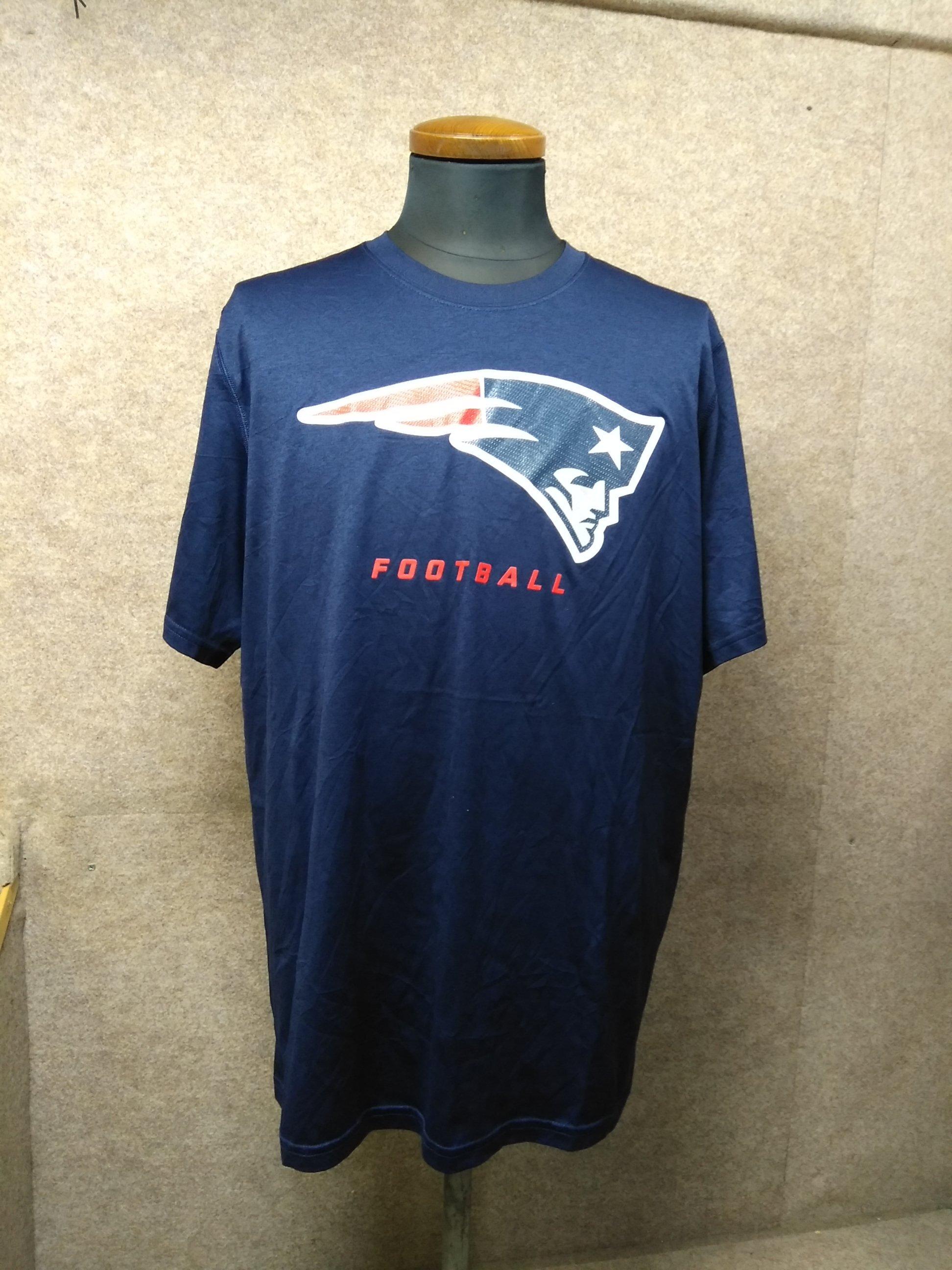 USA輸入古着 ナイキ ペイトリオッツ NFL Tシャツ L 紺 h1027c