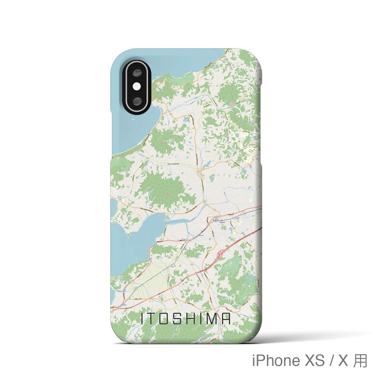 【糸島】地図柄iPhoneケース(ナチュラル)