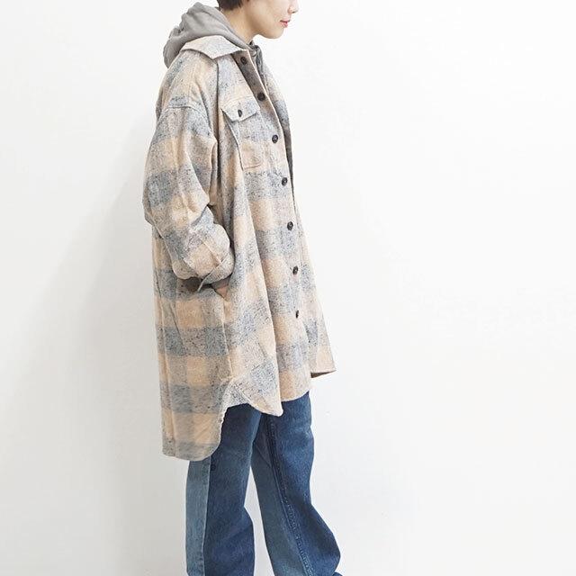ichi イチ ネップブロックチェックオーバーシャツ 【返品交換不可】 (品番190622)