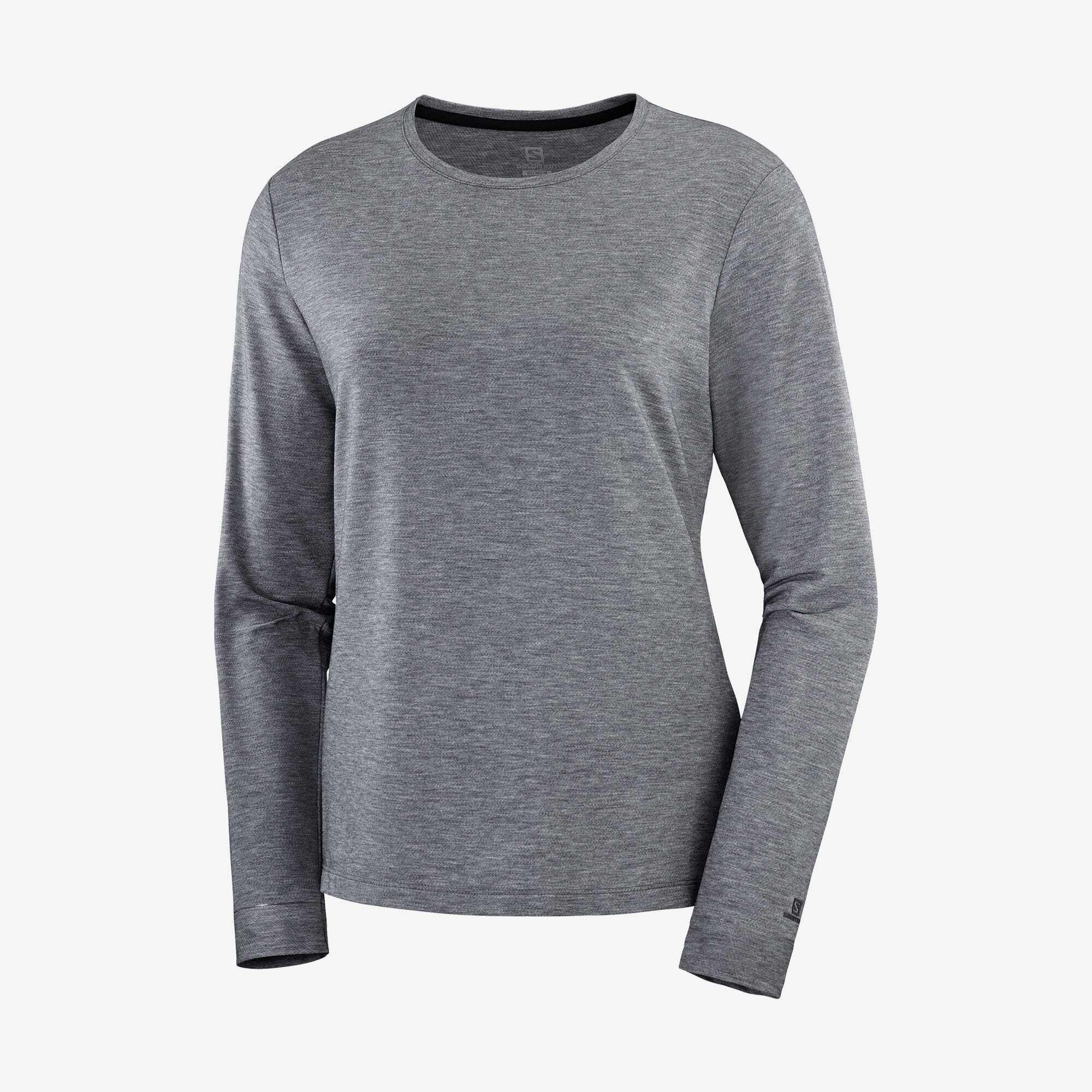 Salomon サロモン ESSENTIAL LS TEE W Black ウィメンズ/レディース エッセンシャルロングスリーブTシャツ ブラック LC1472700