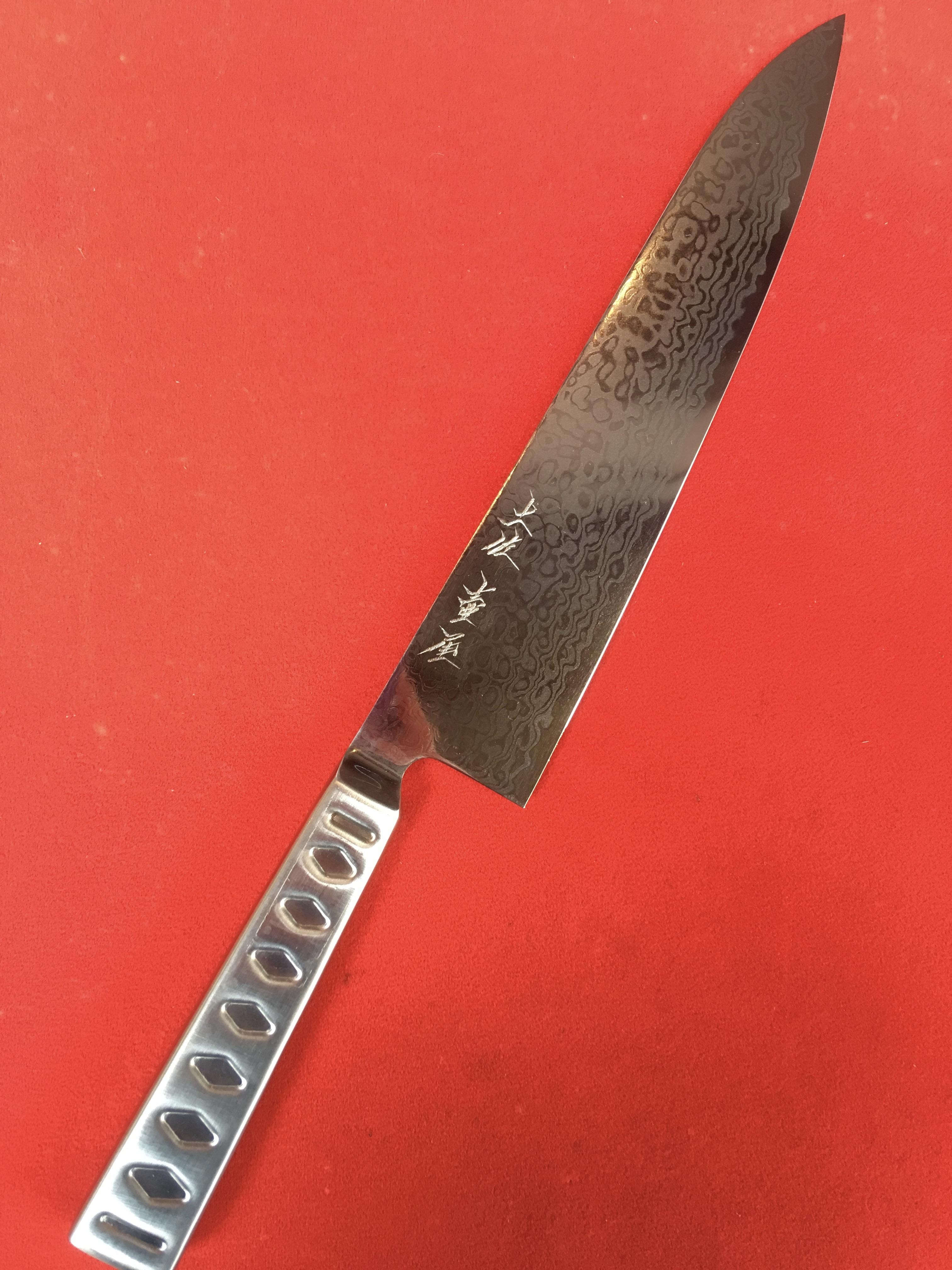牛刀一体型 土佐十二衣鍛造 8寸(ダマスカス仕様)