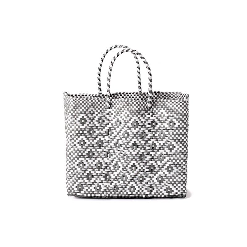 MERCADO BAG ROMBO - White x Silver(XS)