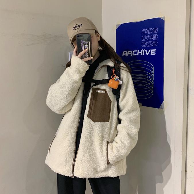【送料無料】スポーティー & アウトドア ♡ 配色 カジュアル ボア ブルゾン ジャケット コート アウター