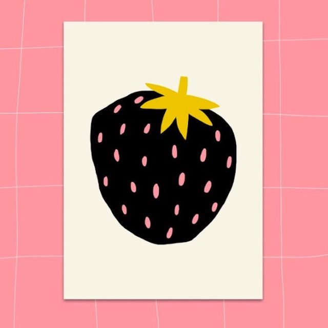 "Jennifer Bouron ""Strawberry"" Postcard"