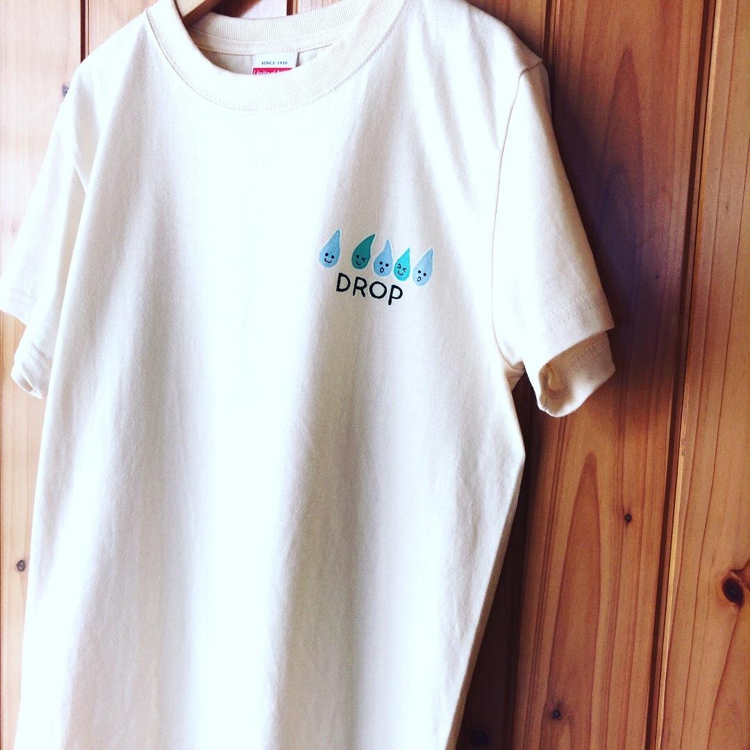 【受注制作】2パターン楽しめる!光る手描きTシャツ【DROP】
