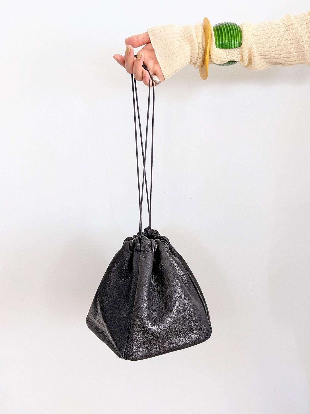 Deer Skin Bag - Black