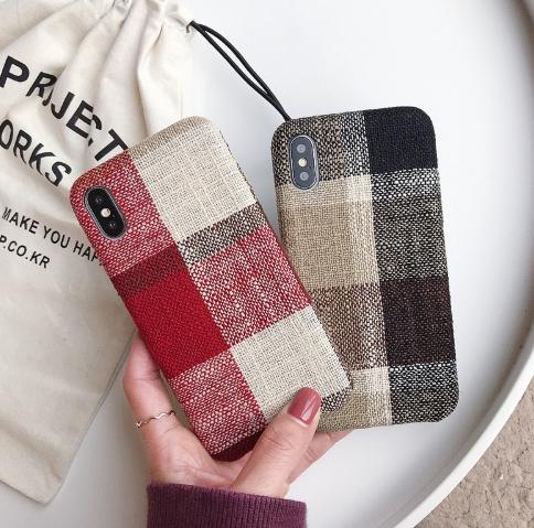 【お取り寄せ商品、送料無料】2カラー チェック お洒落な iPhoneケース