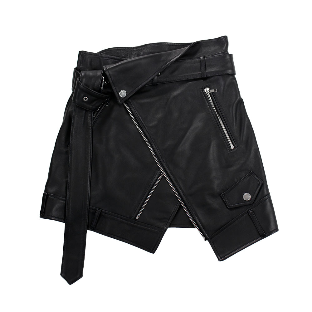 MONSE Riders Detail Leather Skirt