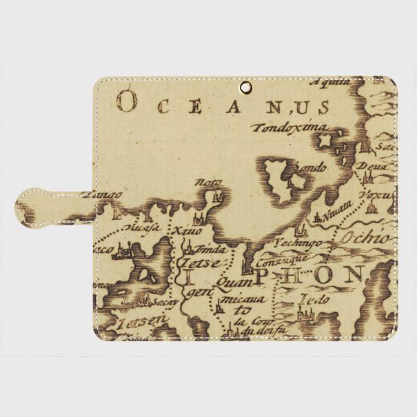 日本古地図(1600年代) / Androidスマホケース(手帳型ケース)