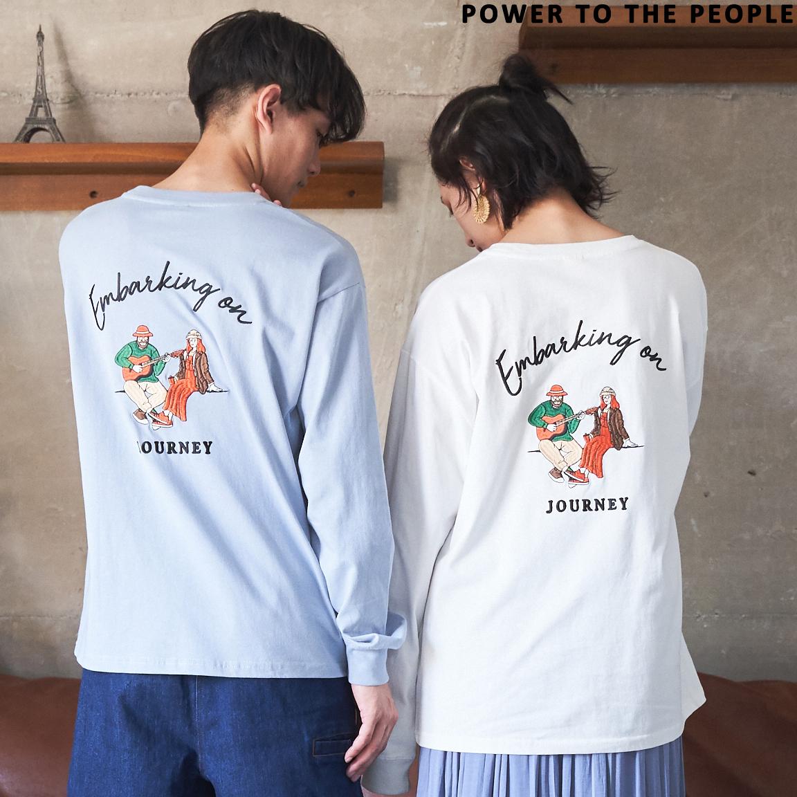 JOURNEY刺繍ロングスリーブTシャツ NO701029