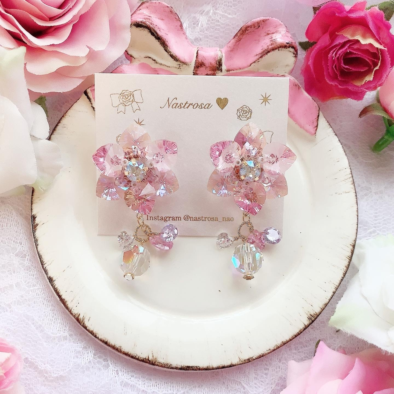 3way heart flower♡fairy pink