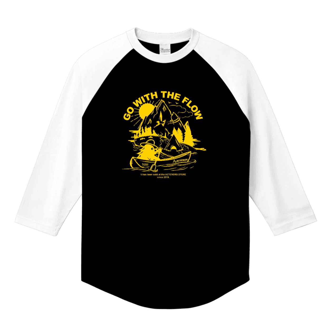 ACTPROS × OUTDOOR MONSTER GWTF 5.6oz ヘビーウェイト ラグラン ハーフスリーブ TEE【3colors × 6logo colors】