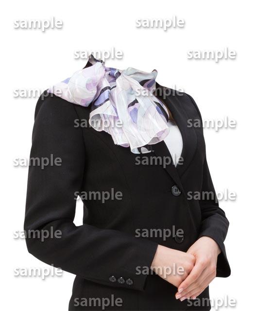 女性スーツスカーフ斜めB