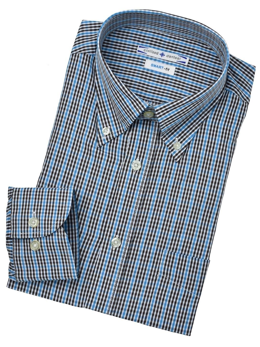 BDブルーチェックシャツ