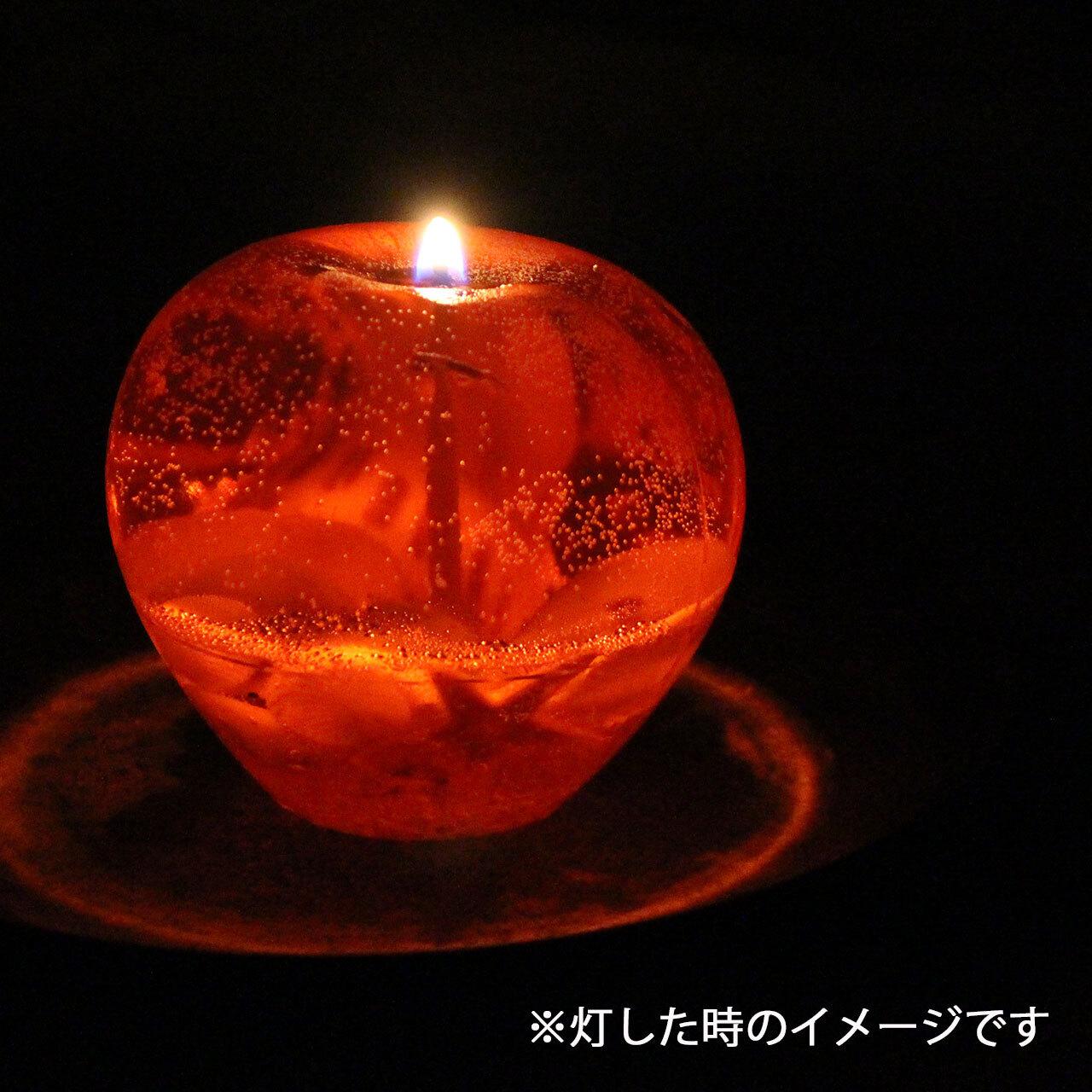 りんごのマリンジェルキャンドル RJ003