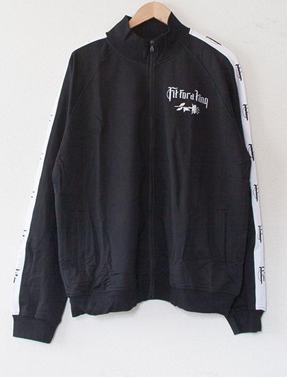 【FIT FOR A KING】Flower Embroidered Track Jacket (Black)