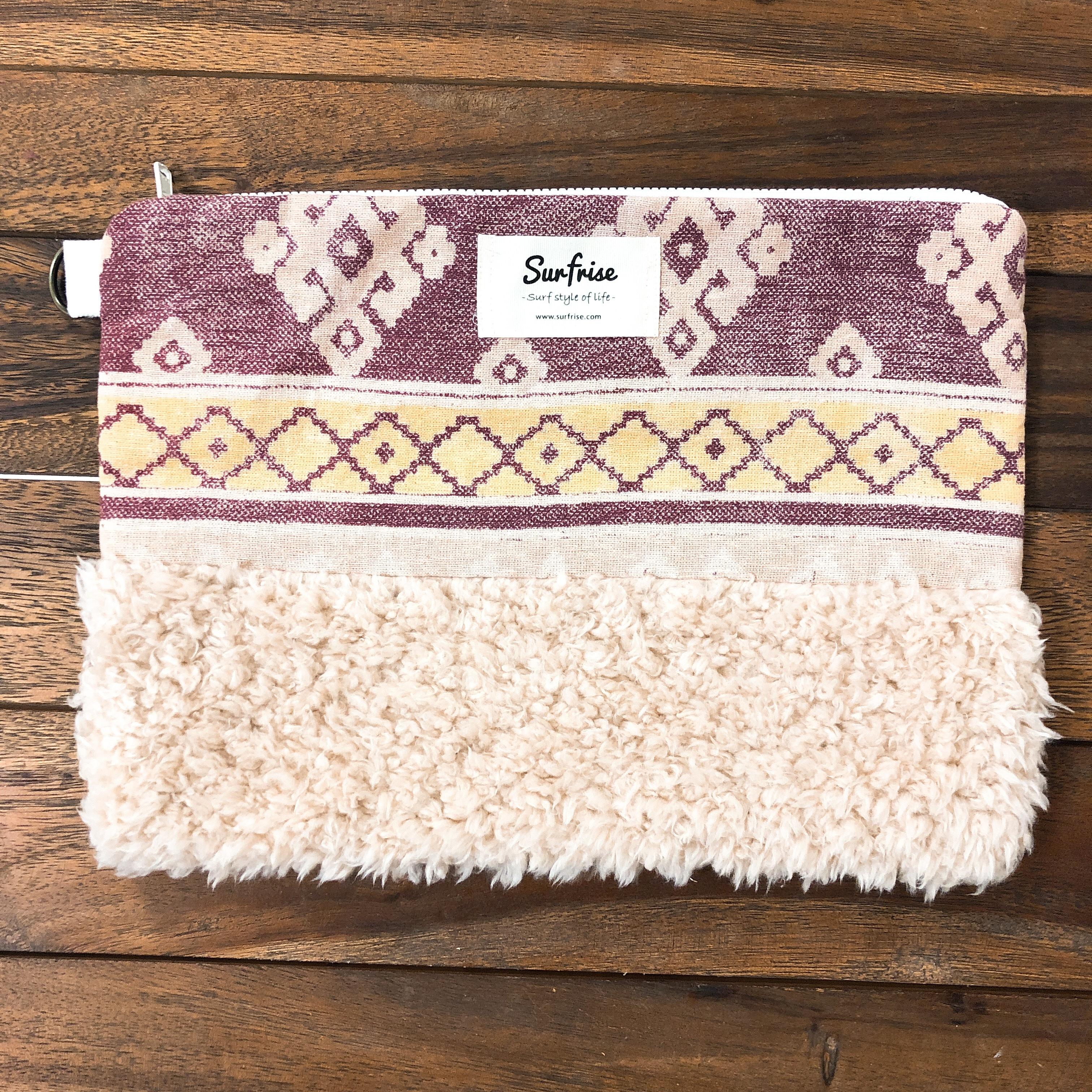 Denim clutch bag ID6 - Pink