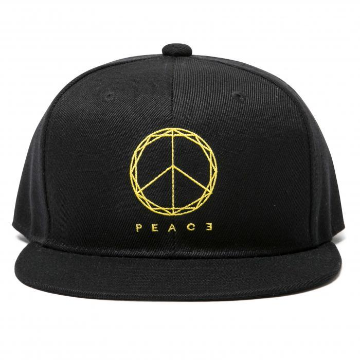 Deviluse(デビルユース) | PEACE Snapback Cap(Black)