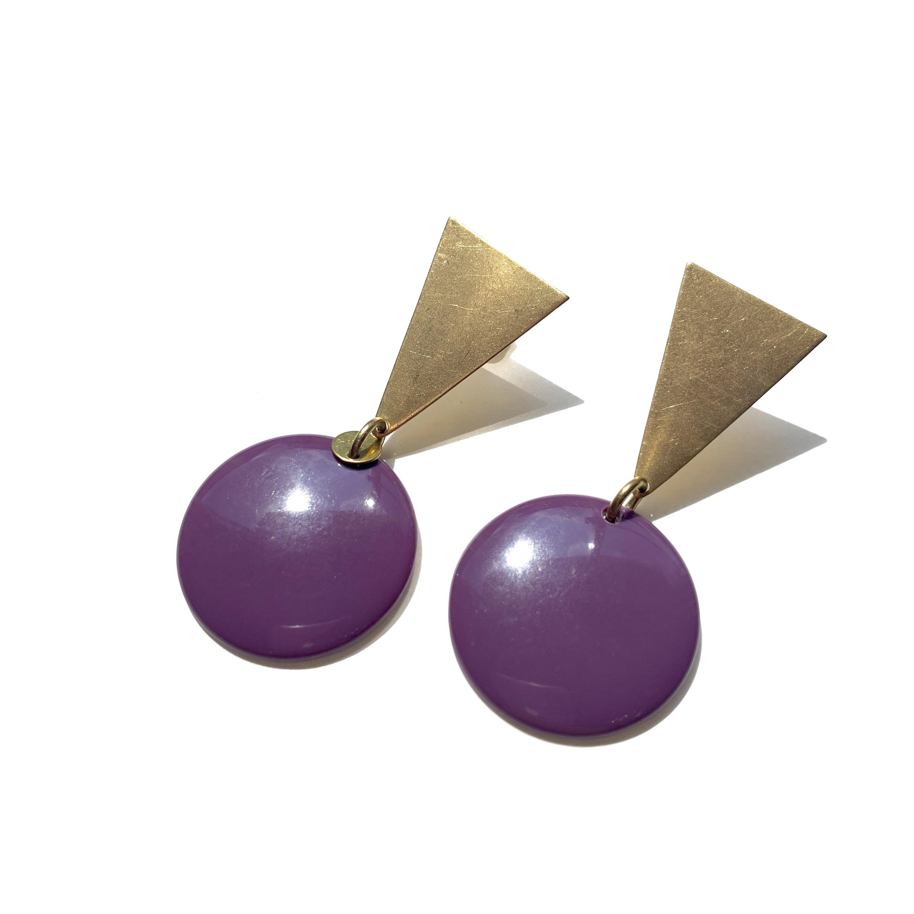 Color plate earrings L-033