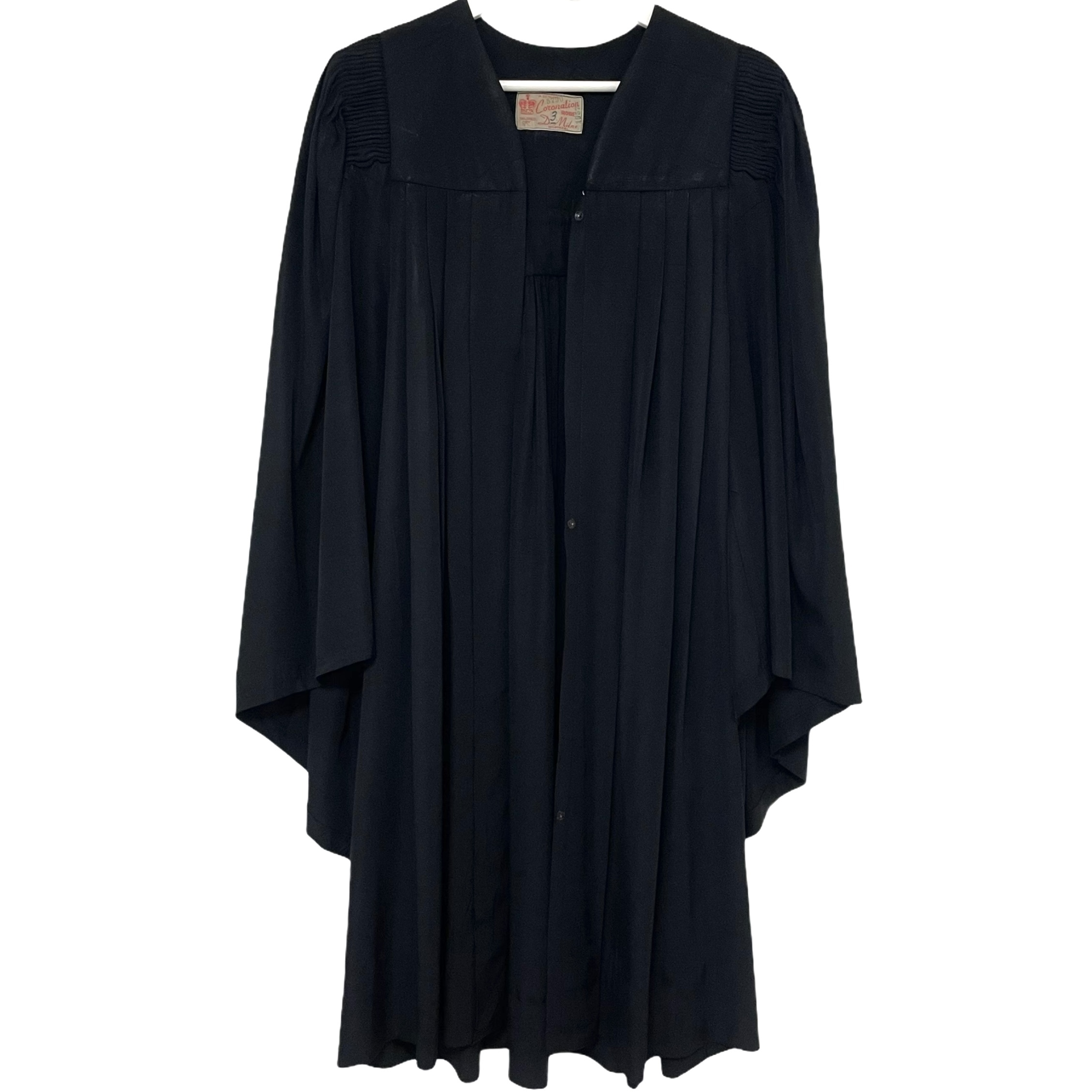 2 D.Milne MONTREAL Black Choir Gown made in Canada