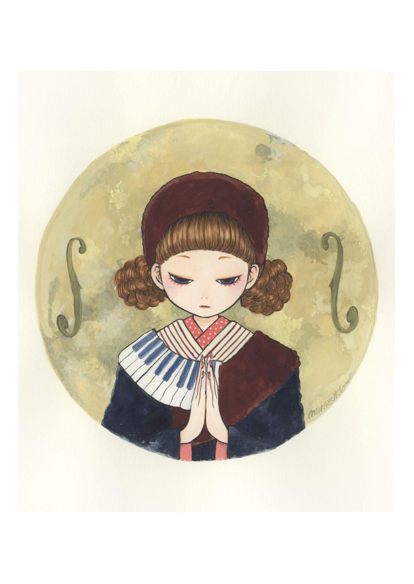 MIKAZUKI / ミカヅキ ミニポスター A4サイズ 「Super moon」