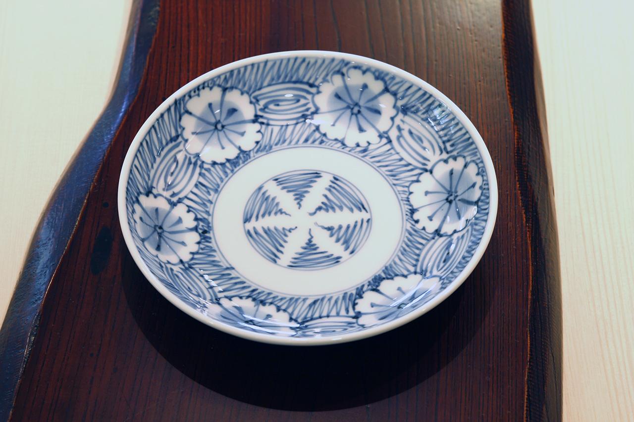 芙蓉紋 5寸皿 作:井手國博・与志郎窯(有田焼)