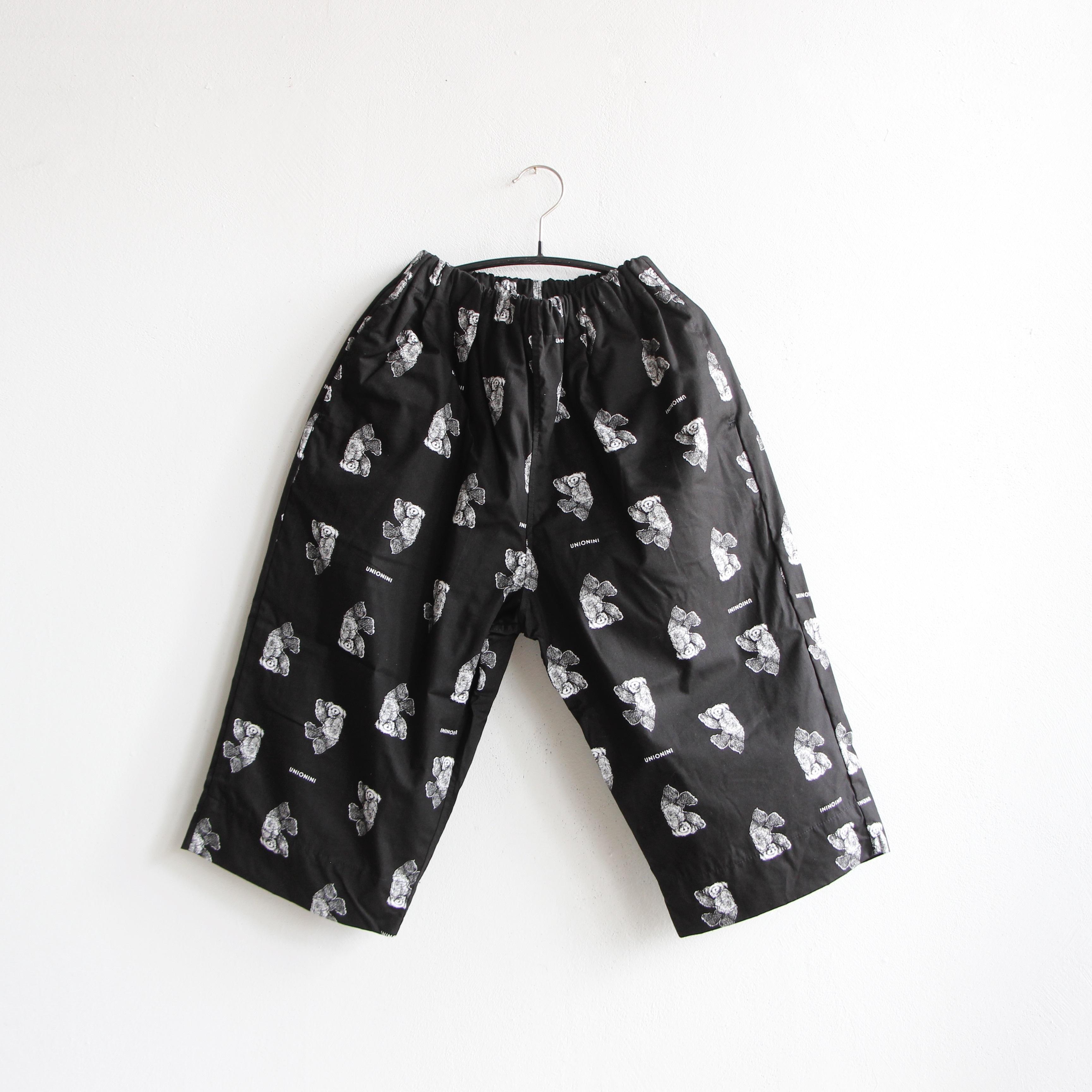 《UNIONINI 2020AW》teddybear long pants / black / 2-12Y