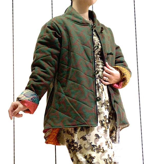 【ラスト1点!】HTG-003 サリーキルティングHANTEN 緑L
