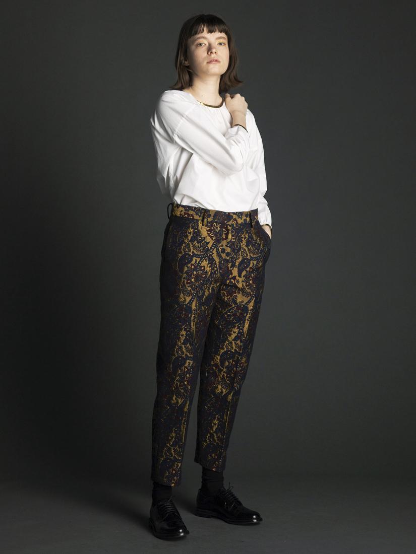 jacquard tapered pants