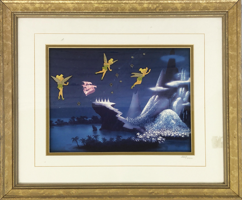 品番2404 ポスター 『Night Flight』 ティンカー・ベル(Tinker Bell) ウォルト・ディズニー 証明書付き アート