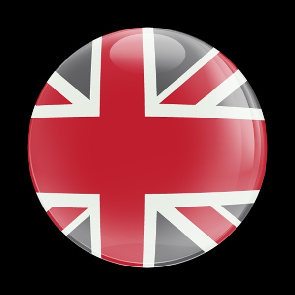 ゴーバッジ(ドーム)(CD0226 - FLAG UK RED-GRAY) - 画像1