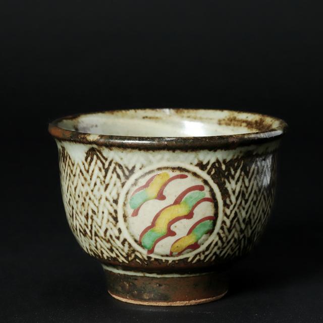 島岡達三 作 象嵌赤繪煎茶器