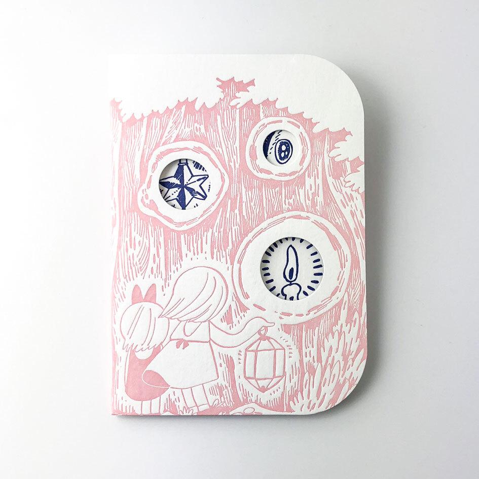 活版印刷のバースデイカード  /  かくれんぼう:谷口菜津子