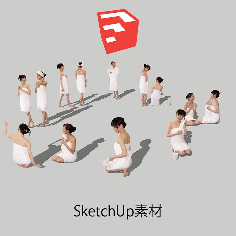 人物SketchUp 4p_set028 - 画像1