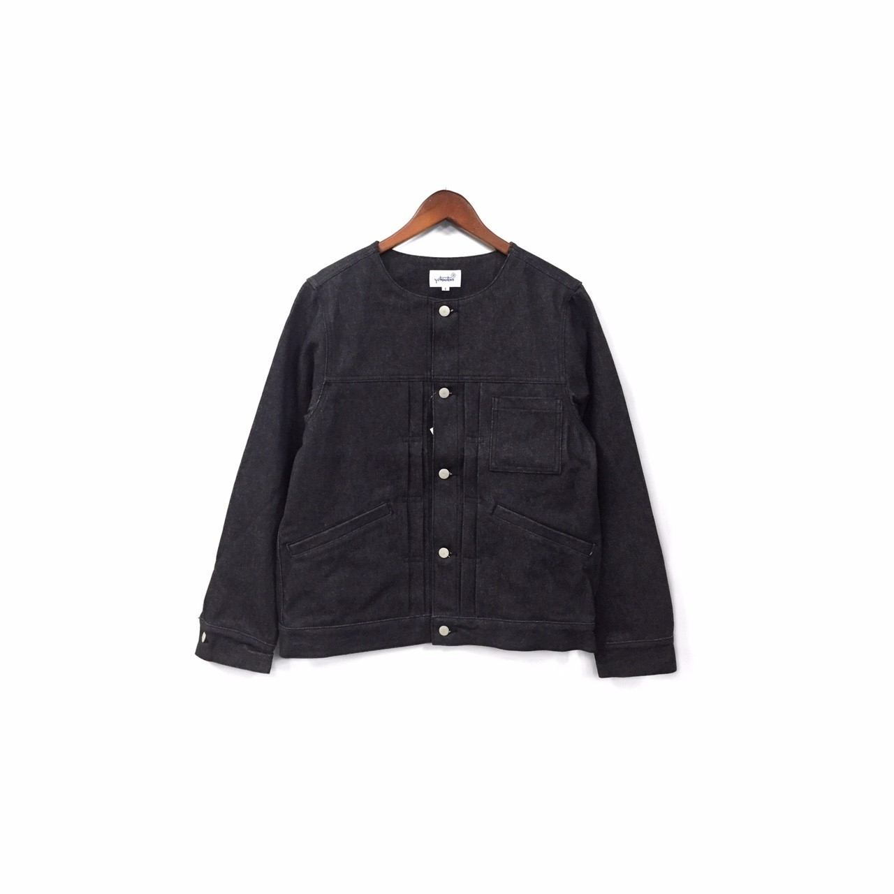 yotsuba - Nocollar Denim Jacket / Black ¥26000+tax