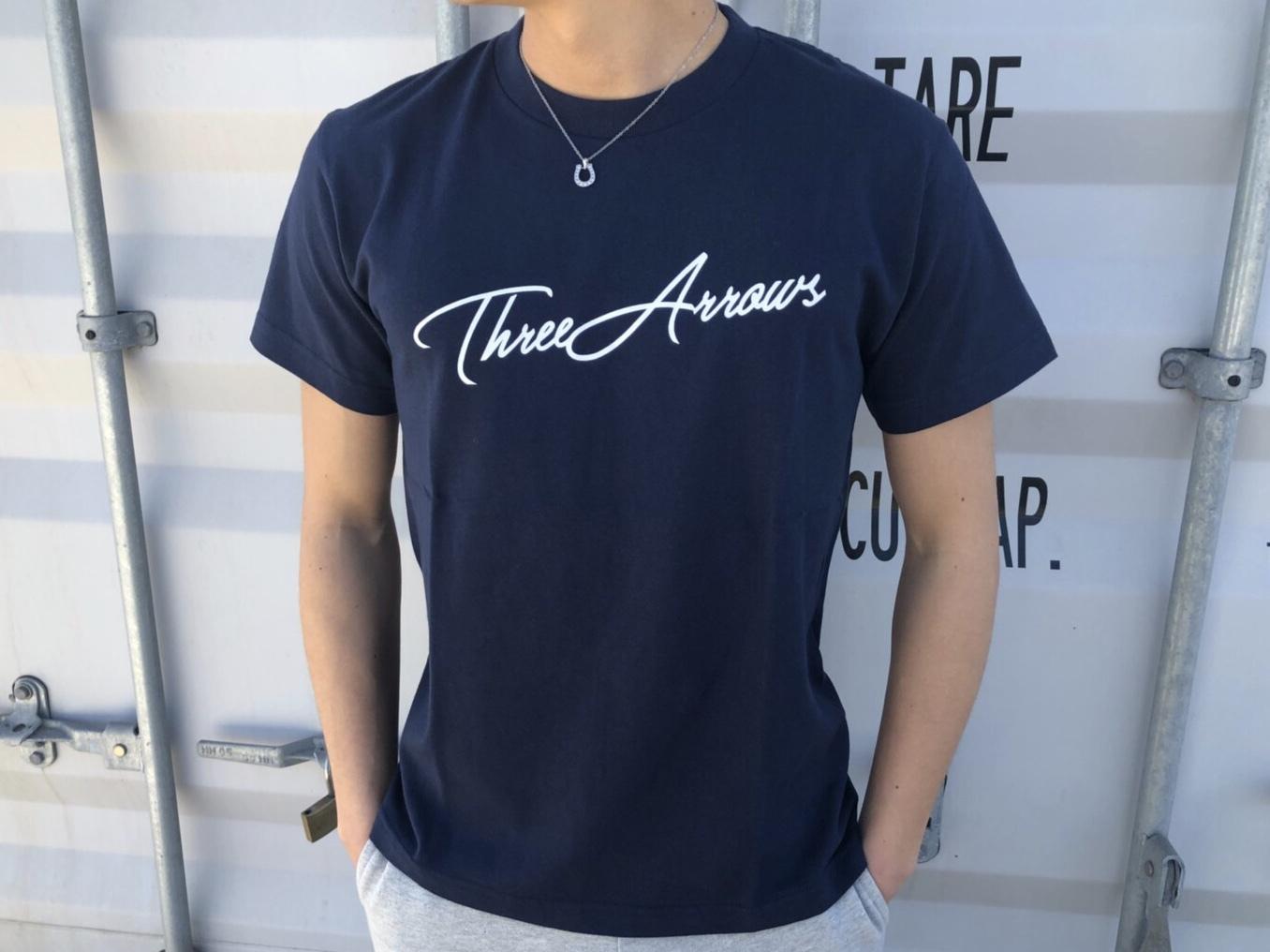 ThreeArrows Tシャツ(navy)