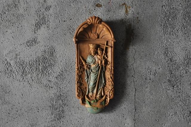 扶助者聖母マリア像レリーフ