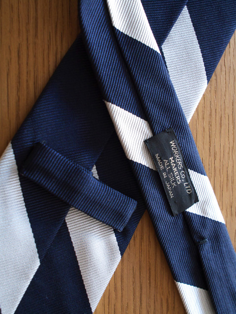 WORKERS ワーカーズ Silk Tie シルクレジメンタルネクタイ