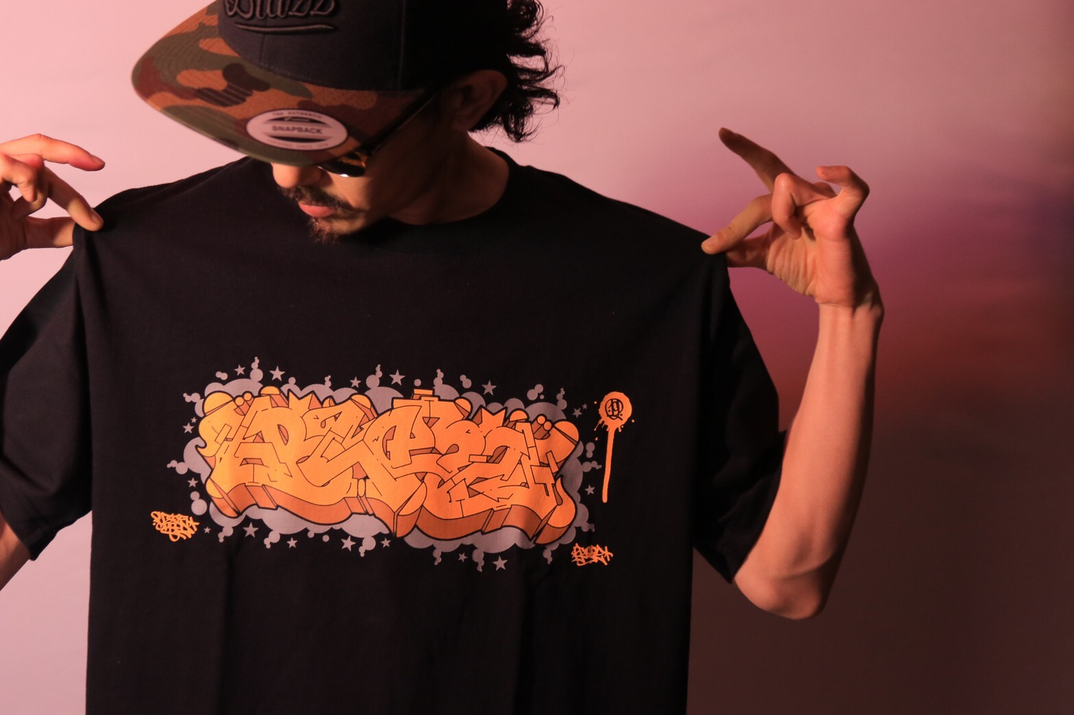 ITALY BLAZZ by Kreso World Wide COLLAB 00 TEE [BLACK]