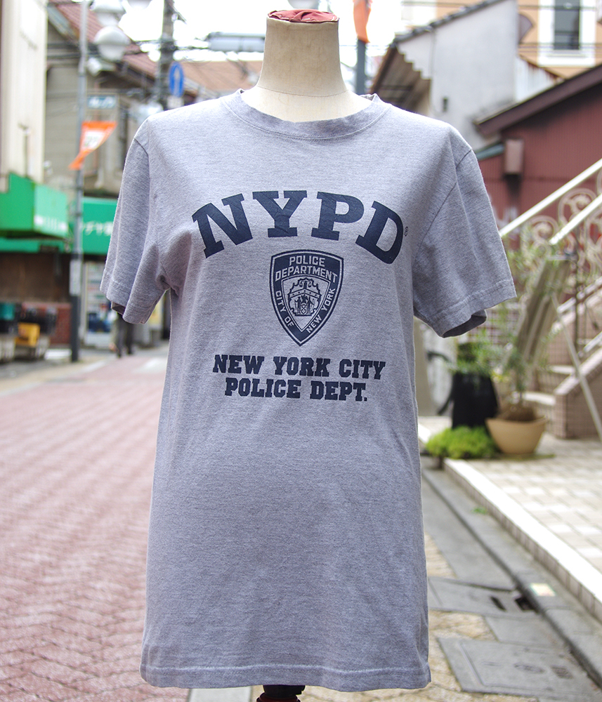 """【USED】 T-shirt """"NYPD"""" Mens/S-size"""