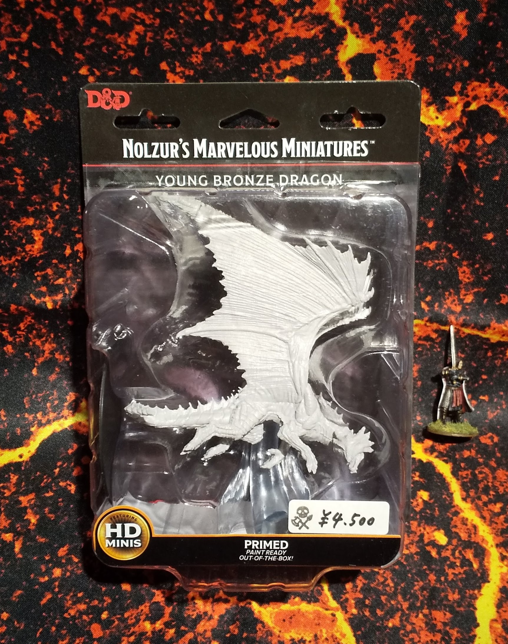 Young Bronze Dragon(D&Dオフィシャルミニチュア「Nolzur's Marvelous Unpainted Miniatures」シリーズ)
